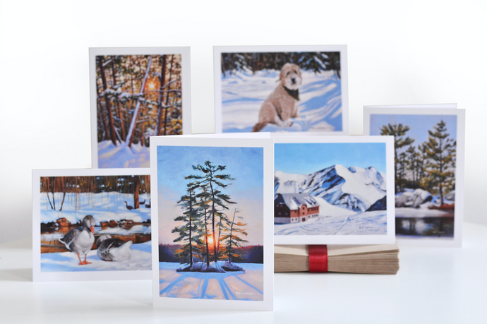 6-Card Winter Landscape Package