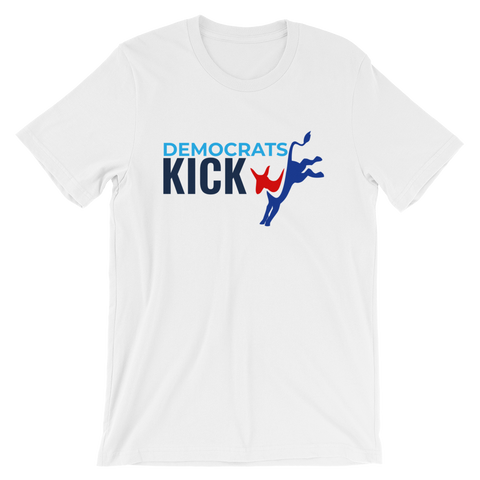 Democrats Kick A logo on white t-shirt
