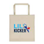 Lil' Kicker canvas tote bag