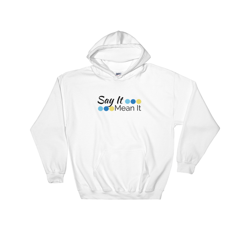 Say It Mean It Logo hoodie - white