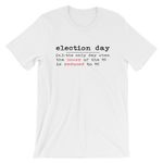 election day logo on white shirt