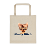 "Canvas  tote bag - ""shady bitch dog logo"