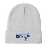 Democrats Kick A white beanie hat