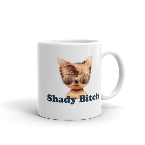 shady bitch dog logo - 11oz coffee mug