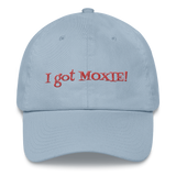 "Blue Dad hat baseball cap - ""I got moxie"""