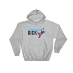 Democrats Kick A - white Hooded Sweatshirt