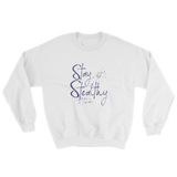 "white sweatshirt - ""stay stealthy"""