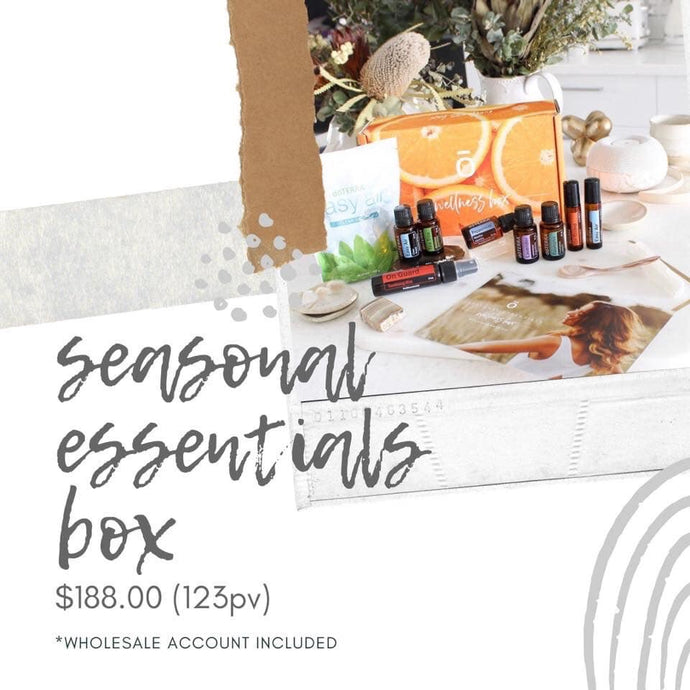 DōTERRA seasonal essentials enrollment box