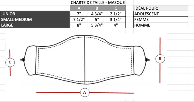 "MASQUE LAVABLE JERSEY ""DRY-FIT"""