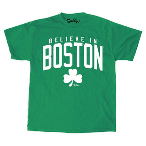 Believe in Boston - Heather Green Shamrock - Unisex T-Shirt