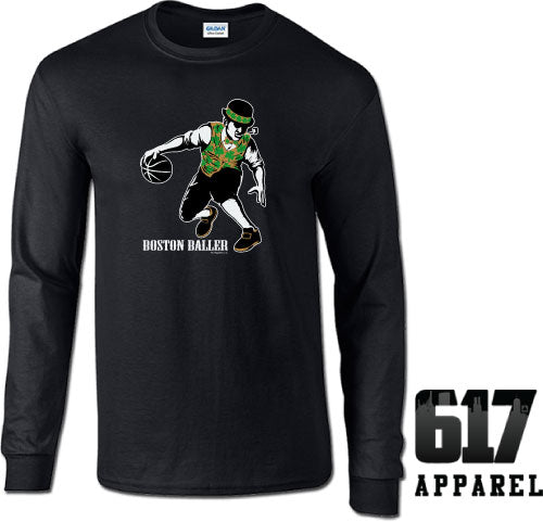 Boston Baller Lucky Basketball Long Sleeve T-Shirt