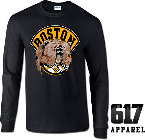 Boston Bear Hockey Long Sleeve T-Shirt