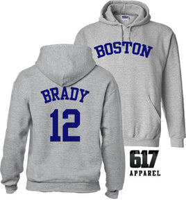 Boston 12 Football Baseball Crossover Hoodie