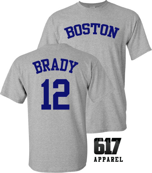 Boston Brady 12 Football Baseball Crossover Unisex T-Shirt