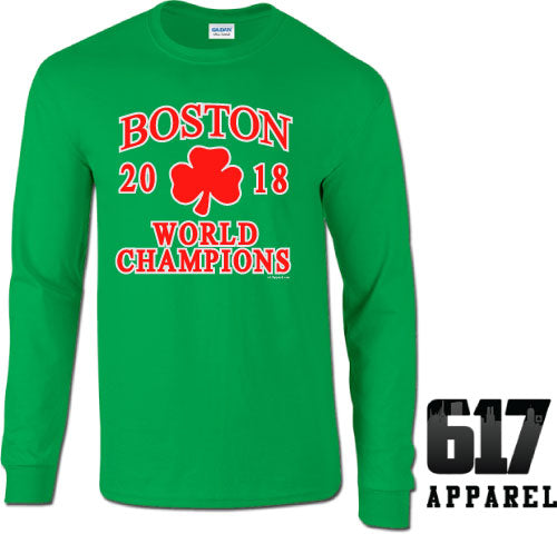 Boston World Champions 2018 Long Sleeve T-Shirt