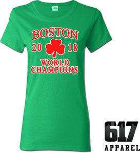 Boston World Champions 2018 Ladies T-Shirt