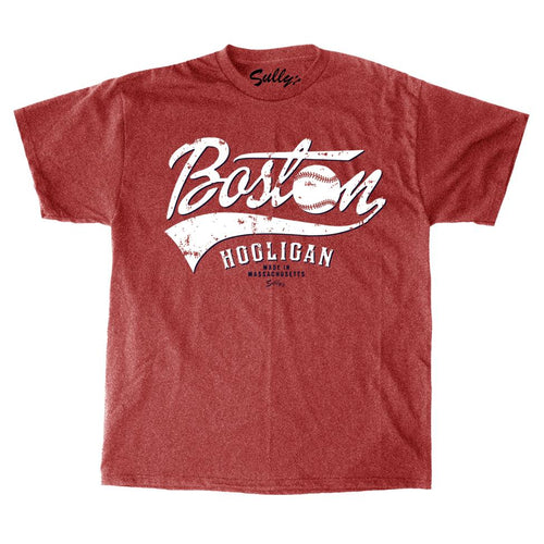 Boston Hooligan Baseball Red Unisex T-Shirt