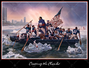 Crossing the Charles New England 16 X 20 Wall Print