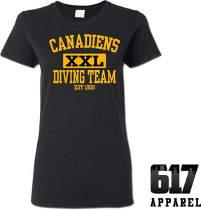 Candadiens XXL Diving Team Ladies T-Shirt