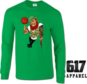 Lucky the Thug Boston Basketball Long Sleeve T-Shirt