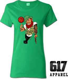 Lucky the Thug Boston Basketball Ladies T-Shirt