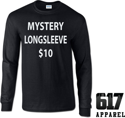 One Small LONG SLEEVE Mystery T-Shirt $10