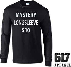 One 3XL LONG SLEEVE Mystery T-Shirt $10