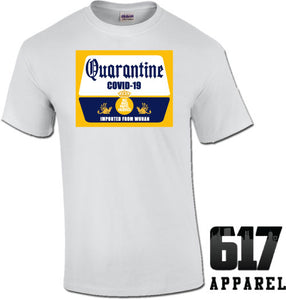 Quarantine Beer Themed Coronavirus COVID-19 Unisex T-Shirt