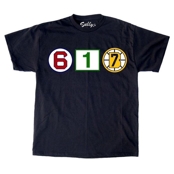 617 Retired Numbers - Black Unisex T-Shirt