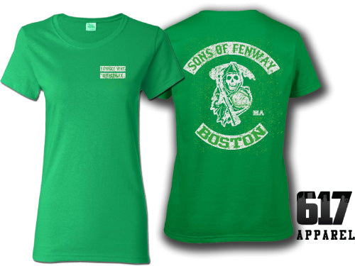 Sons of Fenway Boston Baseball Ladies T-Shirt