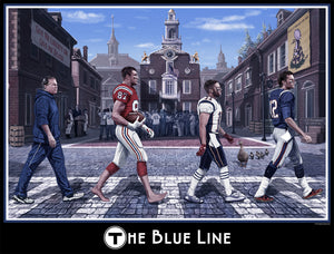 The Blue Line New England 16 X 20 Wall Print
