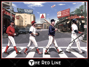 The Red Line Boston 16 X 20 Wall Print