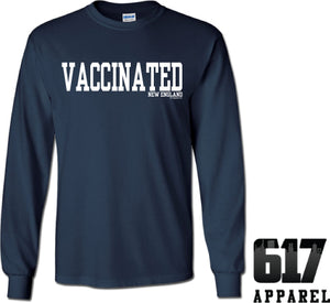 Vaccinated New England Football Long Sleeve T-Shirt