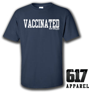 Vaccinated New England Football Youth T-Shirt