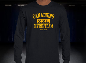 Candadiens XXL Diving Team Long Sleeve T-Shirt