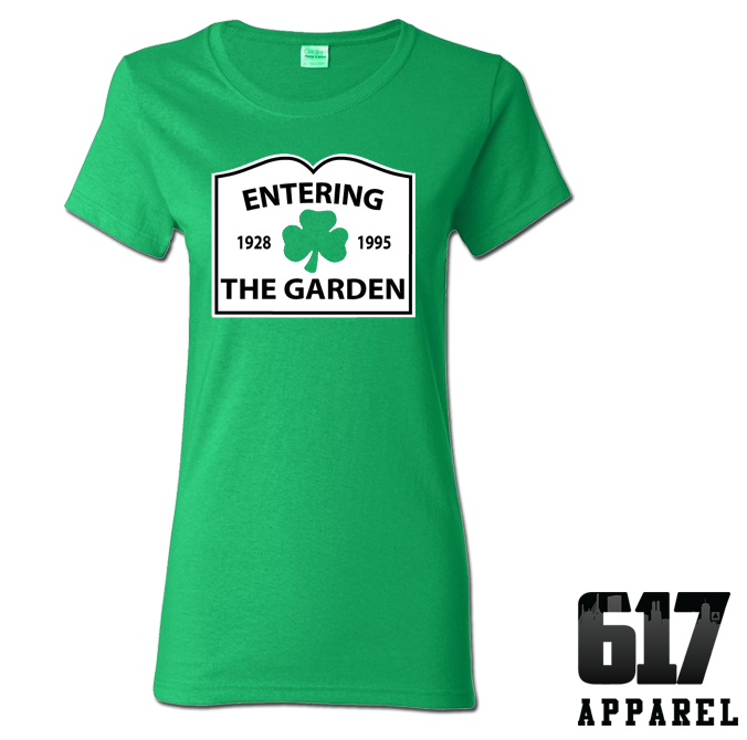 Entering The Garden (Basketball) Ladies T-Shirt