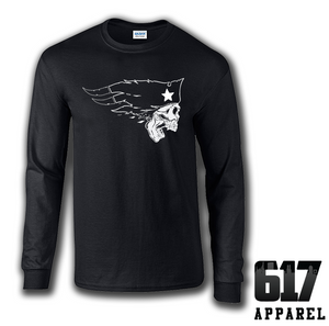 New England Flying Skull Long Sleeve T-Shirt