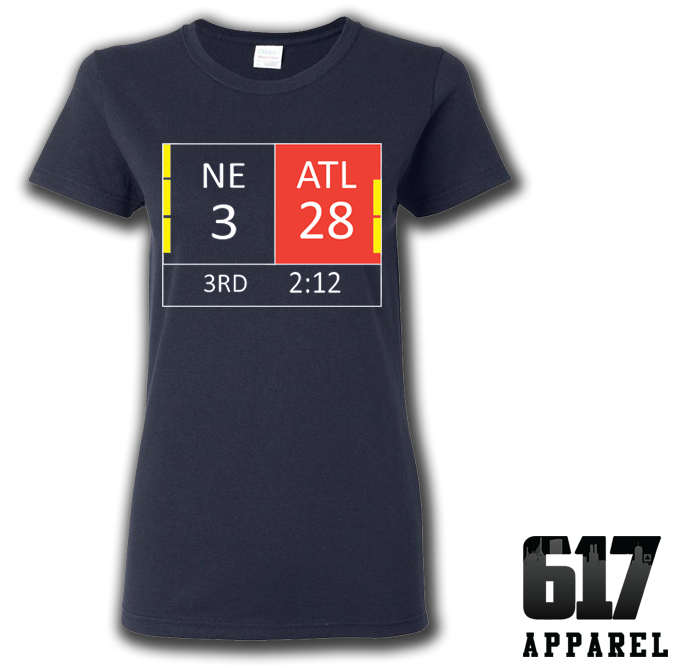New England LI Score 28-3 Ladies T-Shirt