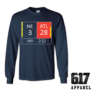New England LI Score 28-3 Long Sleeve T-Shirt
