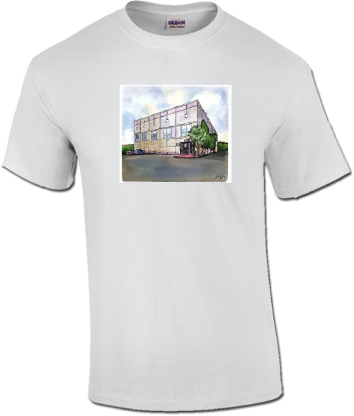 Pam Beesly Office Bulding Watercolor The Office Unisex T-Shirt