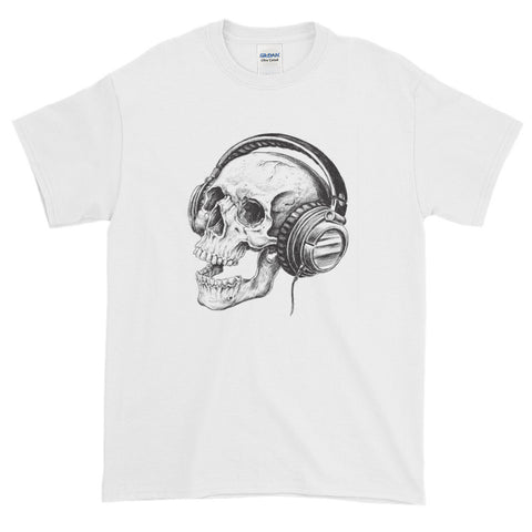 Skull and  phones Short-Sleeve T-Shirt