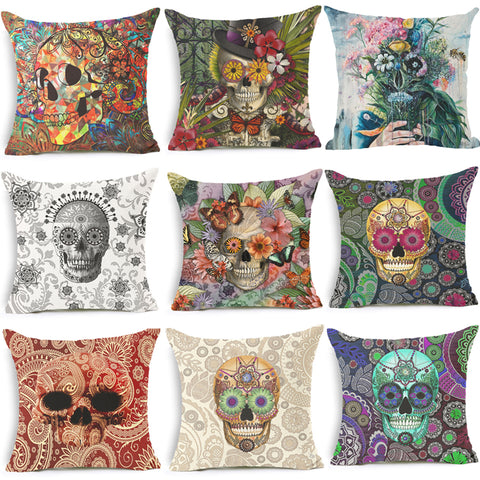 Skull Collection Throw pillow covers