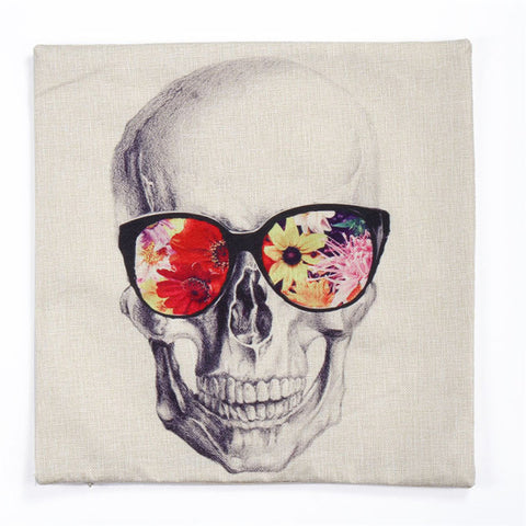 Skull sunglasses Pillowcase cover