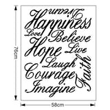 Love Live Hope Laugh Wall e Decal