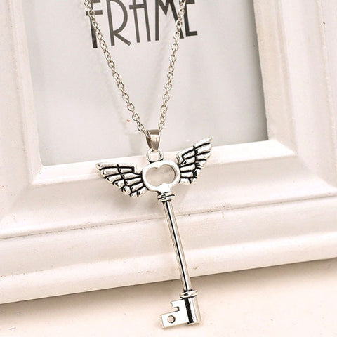 Angel wings Key Friendship  Necklace