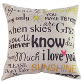 Affirmations Throw Pillow Case