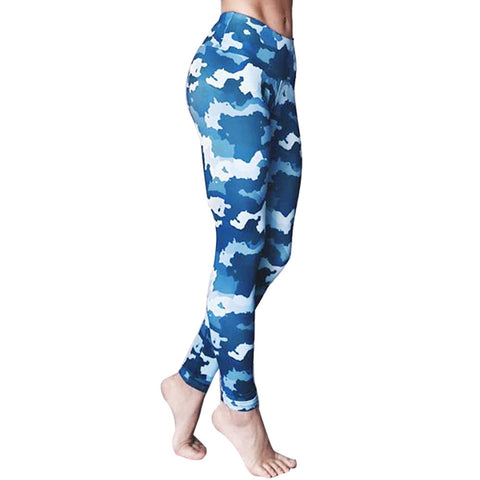 Blue Digi Camo Leggings