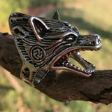 Viking Norse Wolf Ring