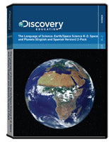 The Language of Science: Earth/Space Science K-2:                     Space and Planets (English and Spanish Version) 2-pack DVD