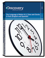 The Language of Math: K-2: Time and Clocks 2-Pack (English and Spanish)